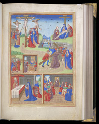 Full-Page Miniature With Scenes From the Life Of Christ And The Virgin, In A Book Of Hours f.54r